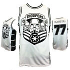 STAR WARS STORM TROOPERS 77 Embroidered Basketball Jersey mens Tank Top Gift