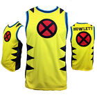 New Mens Basketball Jersey Tank Top WOLVERINE X MEN MARVEL Embroidered NWT