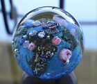 JOSH SIMPSON Studio INHABITED PLANET Art Glass PAPERWEIGHT