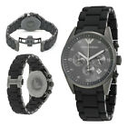 New In Box Emporio Armani AR5889 Men's Watch Gunmetal Black Grey Chronograph
