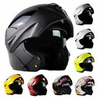 8 Colors Full Open Face Modular Flip Up Dual Visor DOT Motorcycle Street Helmet