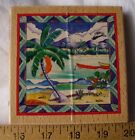 LARGE RUBBER STAMP TROPICAL BEACH PARADISE 425 SQUARE SUGARLOAF PROD NEW