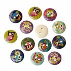 PEPPERLONELY Brand 100PC Owls 2 Hole Scrapbooking Sewing Wood Buttons 15mm5/8