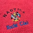 Nautica YACHT CLUB Sweater Men's Size XL Anchor Flags SAILING Pink Competition