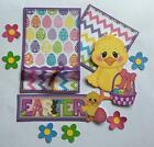 EASTER Title  sewn mat set for Premade Scrapbook Page