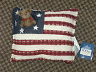 Boyd's Bears Home Collection FLAG Pillow~New w/Tags~Chenille