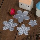 4PCS Flower Shape Metal Stencil Cutting Dies Embossing Card Album Scrapbooking