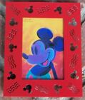 MICKEY MOUSE FRAME MICHAEL GRAVES RED PHOTO FRAME 3.5X5 NEW
