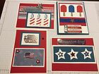 4 Stampin Up Handmade Patriotic 4th Of July Blank Greeting Cards With envelopes