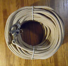 3 8 x 95 ft Tan Beige Dacron Polyester Halyard Spliced in S S Snap Shackle