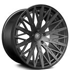 4 set 22 Staggered Zenetti Wheels Drohne Satin Black Rims
