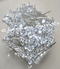 144 DIAMOND HEAD PINS WEDDING CORSAGE BOUQUET PIN NEEDLES BOUTONNIERE FLOWER 2