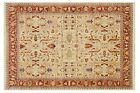 Ivory-Rust Red  10x14 Transitional Serapi Rug All-Over 100% Handmade Area Rug