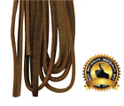 Leather Boot Shoe Laces Heavy Duty 108 inch Dark Brown 10 to 11 Eyelets NEW