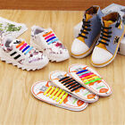 12pcs New Children Kids Cool Easy No Tie Shoelaces Sneakers Elastic Silicone US