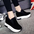 Womens Platform Wedge Casual Shoes Slip On Muffin Sport Sneakers Loafers