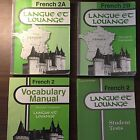 A Beka French 2 Student Set of 4 Langue et Louange Homeschool Language Book 1991