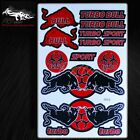 Automotive Sponsor Logo Decal Sticker Motorcycle/Dirt Bike/ATV/Helmet Turbo Bull
