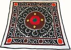 Uzbek Silk Embroidered Suzani Hand Made Embroidery Vintage Style Wall Hanging 40