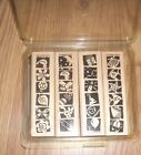 Stampin Up BOLD AND BRIGHT SHAPES Set of 4 Rubber Mounted Stamps NEW