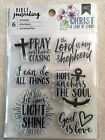 American Crafts BIBLE JOURNALING CLEAR STAMPS PRAY GOD IS LOVE NEW