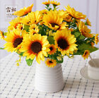 Real Like Sunflower Artificial Silk Flower Bouquet Home Floral Decor