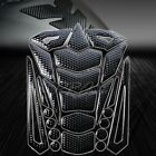 3D 24-Piece Customize Fuel Gas Tank Pad Sticker Perforated Black+Glossy Black