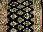 BLACK JALDAR RUNNER IVORY TOUCH HAND KNOTTED 8.0X2.6