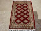 EXCLUSIVE RED JALDAR FLOWERS HAND KNOTTED RUG WOOL SILK CARPET 4x2.6 FB-2281