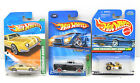 3 pc Treasure Hunt Hot Wheels Mattel Flashsider+Studebaker Avanti+Go Kart NOC