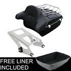 Chopped Tour Pak Pack Trunk For Harley Davidson Touring Street Road Glide 14 19