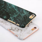 Hard PC Marble Granite Texture Glossy Case Cover For iPhone 7 Plus 6S Samsung S7