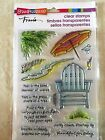 Stampendous Clear Acrylic Stamp Set Seaside Chair Beach SSC1225 NEW