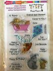 Stampendous Clear Acrylic Stamp Set Hoppy Moments Bunny Rabbit SSCM5001 NEW
