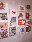 lot of 15 vintage used christmas cards great for scrapbooking