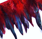 Yrb01 Bright Red4 8 Wide Rooster Feather Fringe Trim Facinator Material