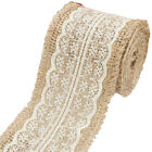 2M Natural Jute Burlap with Lace Ribbon for Arts Crafts Wedding Cake Rustic