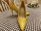 4 Delicious Yellow Pointed Toe Dress Pump Stiletto Heel Women Shoes Size 6