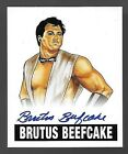 2012 Leaf Originals Wrestling #BB2 Brutus Beefcake On Card Base Autograph