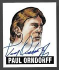 2012 Leaf Originals Wrestling Alternate Art #PO1 Paul Orndorff On Card Autograph