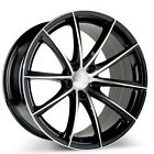 4 pcs 19 Ace Alloy Wheels Convex Black with Machined Rims