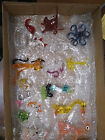 15 Set Hand Blown Glass Animals and Figurines