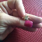Antique 10k Art Deco emerald cut topaz ring size 6