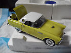 RARE Franklin Mint 1 24 1956 LE Yellow Ford Thunderbird Sample Car MIB LOOK