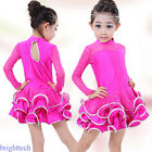 1pc Fashion Rose Red Sequined Latin Dress Dance Dress for Children 140m