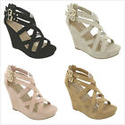 Brand New Womens Gladiator Strappy High Heel Platform Wedge Pumps Sandals Shoes