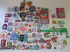 Large Lot of 91 Vintage Girl Scout  Brownie Badges Pins  Patches