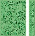 BIT OF PAISLEY Embossing Folders For Cricut Cuttlebug Die Cut Embossing Machine