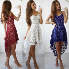 Womens Lace Short Mini Dress Bridesmaid Wedding Evening Party Cocktail Prom Gown