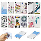Rubber Pattern Silicone Clear Soft TPU Cute Back Cover Case For Various Phone